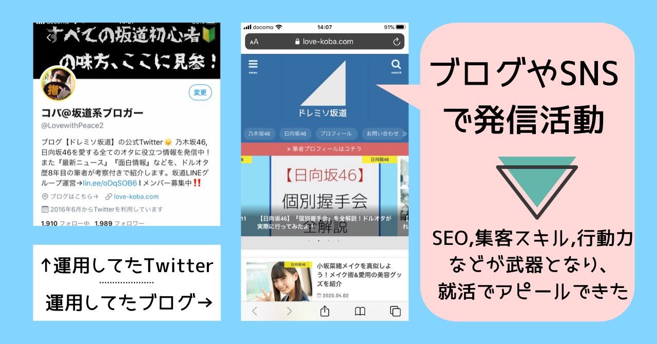 アイドルの役立ち情報をブログ,SNSで発信